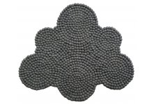Grey Felt Ball Cloud Rug