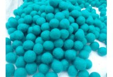 1000 Peaces 2cm turqouise color felt balls