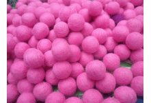 1000 Peaces 2cm pink color felt balls