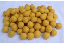 1000 Pieces 2cm dark yellow felt ball