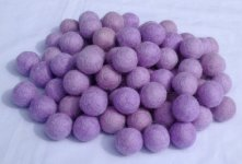 1000 Pieces 2cm Light purple felt ball