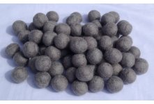 1000 Pieces 2cm Light grey felt ball