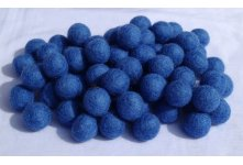 1000 Pieces blue felt ball