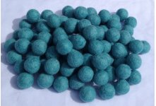 1000 Pieces light turquoise felt balls