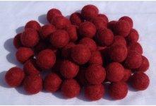 1000 Pieces 2cm Maroon felt balls