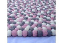 Clean felt ball rug