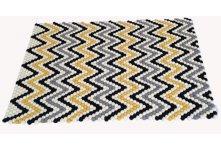 120cm x 80cm Chevron felt ball rug