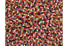 Felt ball rug sample