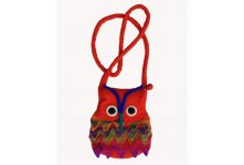 Felt owl design children bag