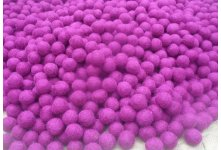 1000 Pieces 2cm Purple Color Felt Ball