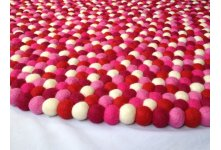 Hot sexy round felt ball rug