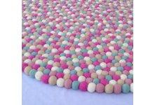 Crazy Pink Felt Ball Rug