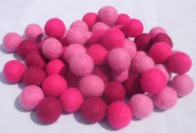 1000 Pieces 2cm Mixed Color Felt Ball
