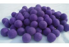 1000 Pieces 3cm purple color felt balls