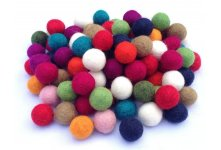 1000 Pieces 2cm Mixed Felt Balls