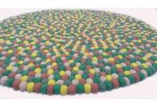 Mint green handmade felt rug