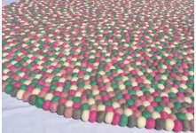 Sweet pink felt rug