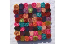 5 Pieces 20cm Felt spiral colorful trivet