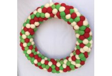 Christmas Felt Ball Wreath