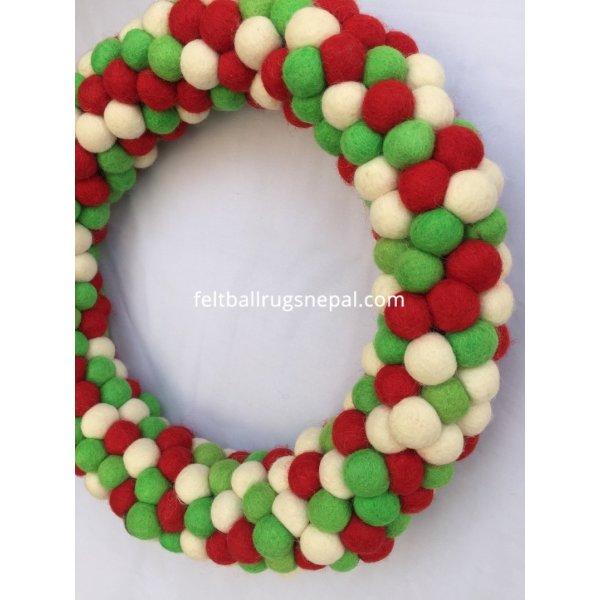 Christmas Felt Ball Wreath