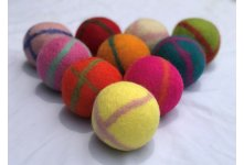 8cm Cross line felt ball