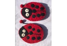 Ladybird Felt Coin Purse