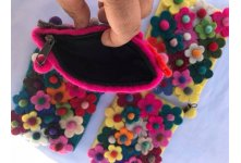 Flowers Felt Coin Purse