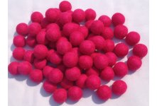 1000 Pieces 2cm hot pink color felt balls