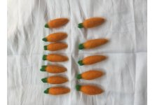 Handmade Felt Carrots veggies 12 Pieces